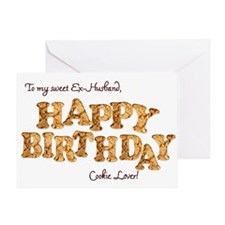 For ex-husband, a Birthday card for a cookie lover