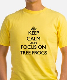 Keep Calm by focusing on Tree Frogs T-Shirt
