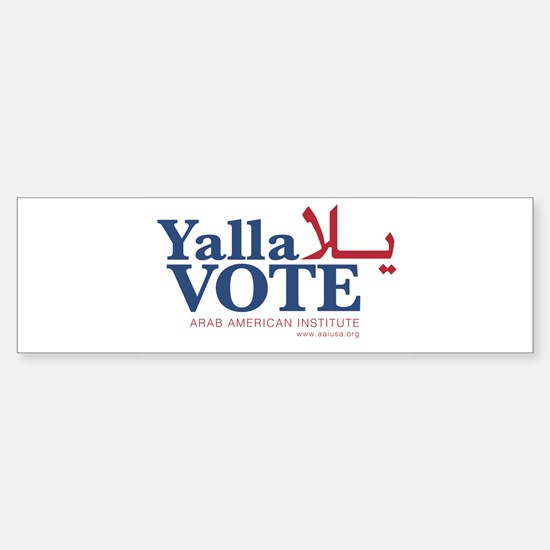 Yalla Vote Bumper Bumper Bumper Sticker