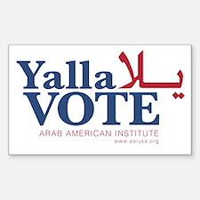 Yalla Vote Decal