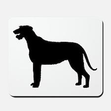 Irish Wolfhound Silhouette Mousepad