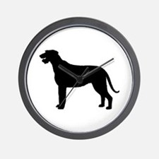 Irish Wolfhound Silhouette Wall Clock