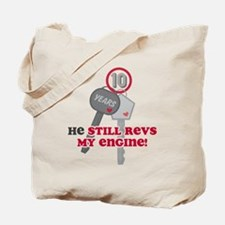 He Revs My Engine 10 Tote Bag