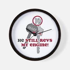 He Revs My Engine 10 Wall Clock