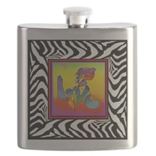Cute Zebras Flask