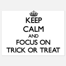 Keep Calm by focusing on Trick Or Trea Invitations