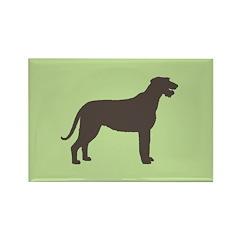 Irish Wolfhound Silhouette Rectangle Magnet (10 pa