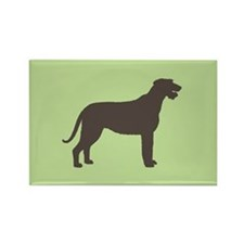 Irish Wolfhound Silhouette Rectangle Magnet