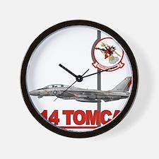 Tomcat fighter jet Wall Clock
