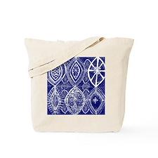 Indigo Blue Rustic Tangle Art Tote Bag