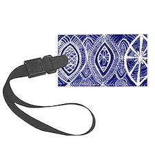 Indigo Blue Rustic Tangle Art Luggage Tag