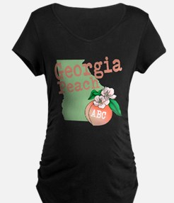 Georgia Peach Maternity T-Shirt