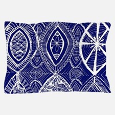 Indigo Blue Rustic Tangle Art Pillow Case