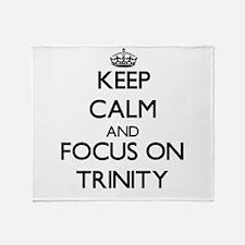 Keep Calm by focusing on Trinity Throw Blanket