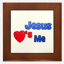 Jesus loves me (solo) Framed Tile
