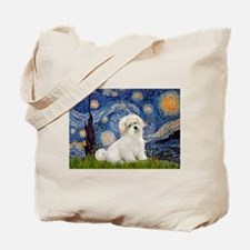 Starry / Coton de Tulear (#7) Tote Bag