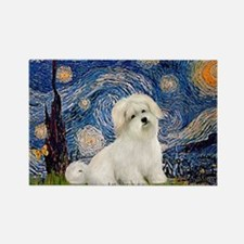 Starry / Coton de Tulear (#7) Rectangle Magnet