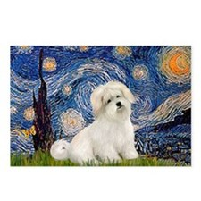 Starry / Coton de Tulear (#7) Postcards (Package o