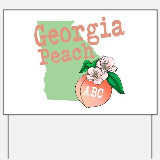 Georgia Peach Yard Sign