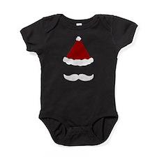 Mustache Santa Baby Bodysuit