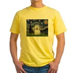 Starry Night Coton de Tulear Yellow T-Shirt