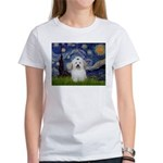 Starry Night Coton de Tulear Women's T-Shirt
