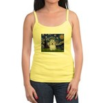 Starry Night Coton de Tulear Jr. Spaghetti Tank