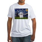 Starry Night Coton de Tulear Fitted T-Shirt