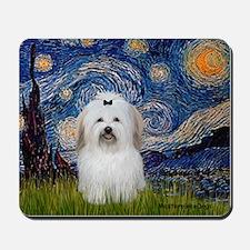 Starry Night Coton de Tulear Mousepad