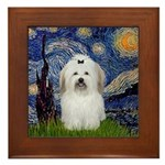 Starry Night Coton de Tulear Framed Tile