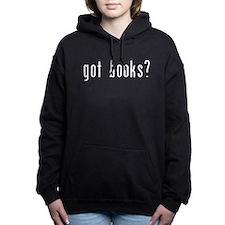 got books white.png Women's Hooded Sweatshirt