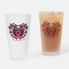 Breast Cancer Awareness Drinking Glass