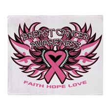 Breast Cancer Awareness Throw Blanket