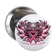 """Breast Cancer Awareness 2.25"""" Button"""