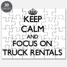 Keep Calm by focusing on Truck Rentals Puzzle