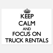 Keep Calm by focusing on Truck Rentals Invitations