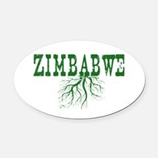 Zimbabwe Roots Oval Car Magnet