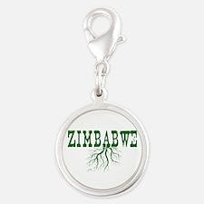 Zimbabwe Roots Silver Round Charm