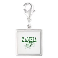 Zambia Roots Silver Square Charm