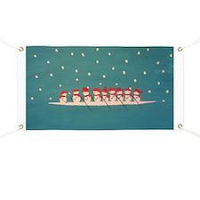 rowing snowmen Banner