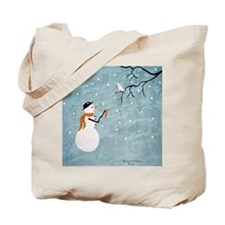 Unique Snowman Tote Bag
