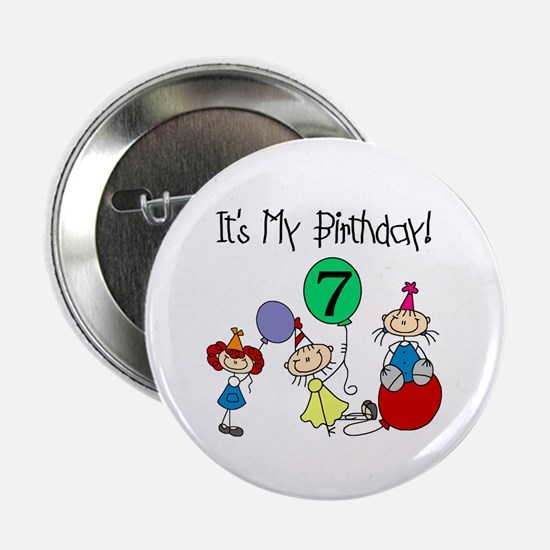 My 7th Birthday Button