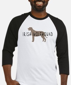 Irish Wolfhound w/ Text Baseball Jersey