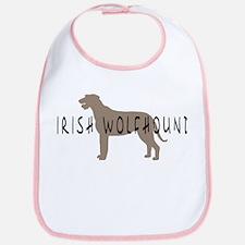 Irish Wolfhound w/ Text Bib