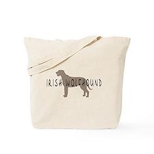 Irish Wolfhound w/ Text Tote Bag