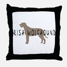 Irish Wolfhound w/ Text Throw Pillow