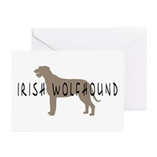 Irish Wolfhound w/ Text Greeting Cards (Package of