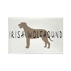 Irish Wolfhound w/ Text Rectangle Magnet