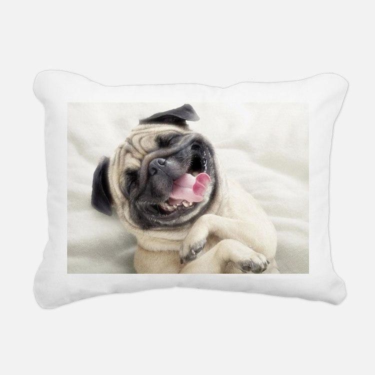 Funny Dog Rectangular Canvas Pillow