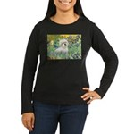 Irises / Coton Women's Long Sleeve Dark T-Shirt